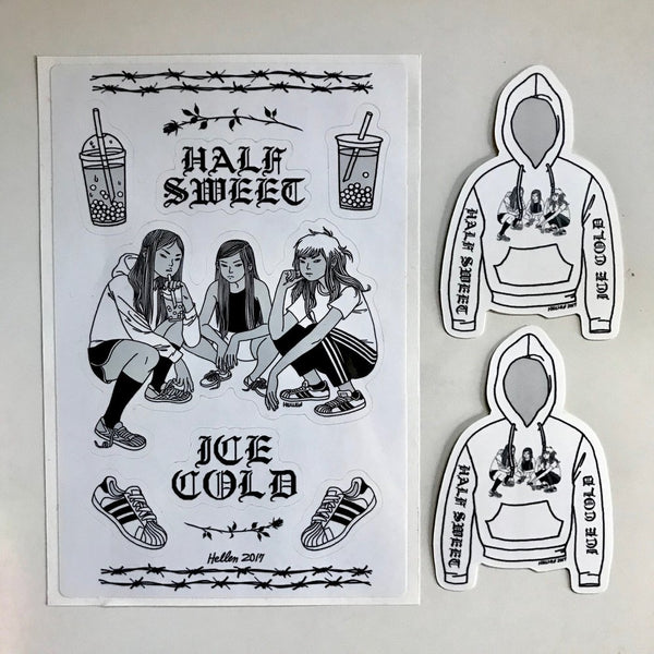Half Sweet Ice Cold Sticker Sheet