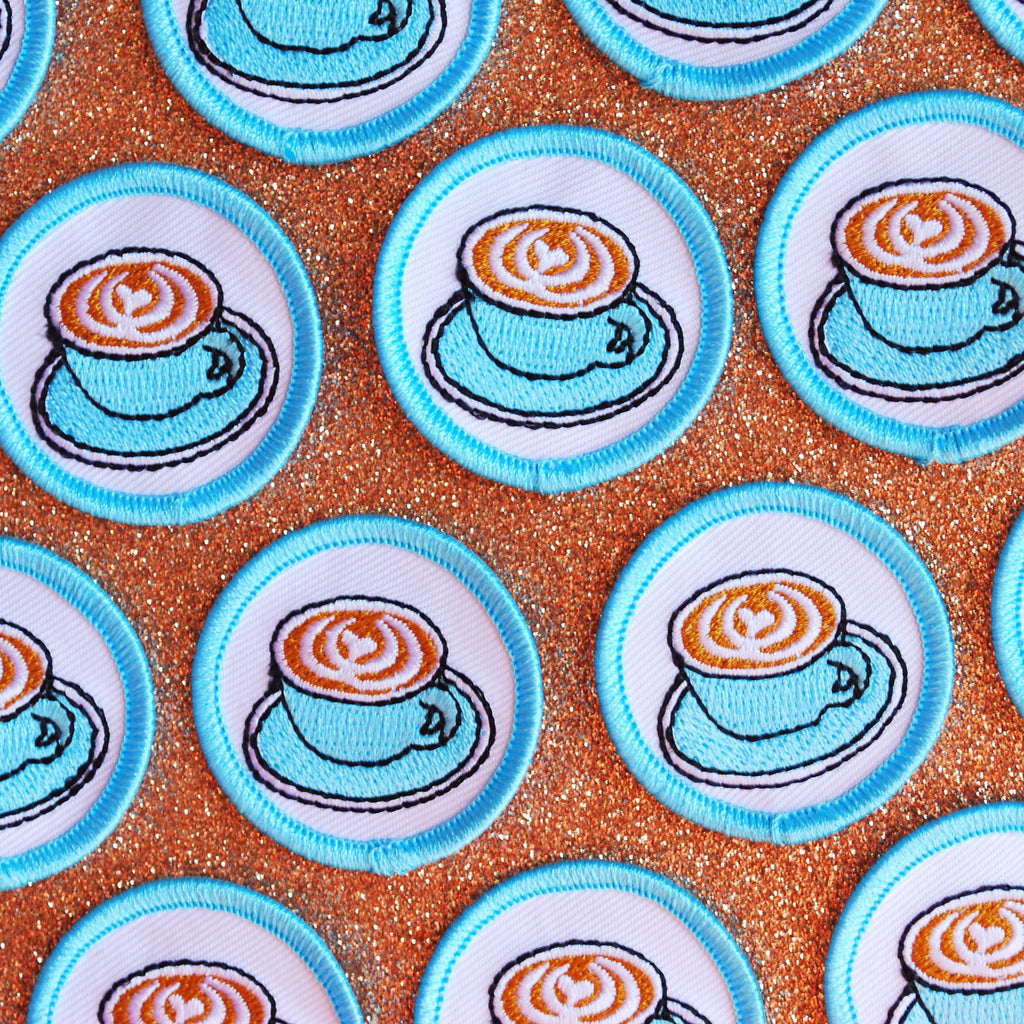 Latte Merit Badge Patch