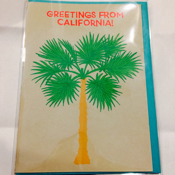 Palm tree greeting card