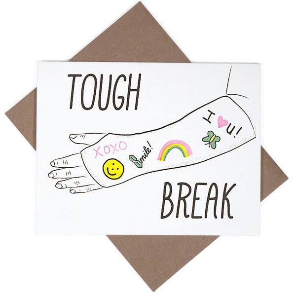 Tough Break Note Card