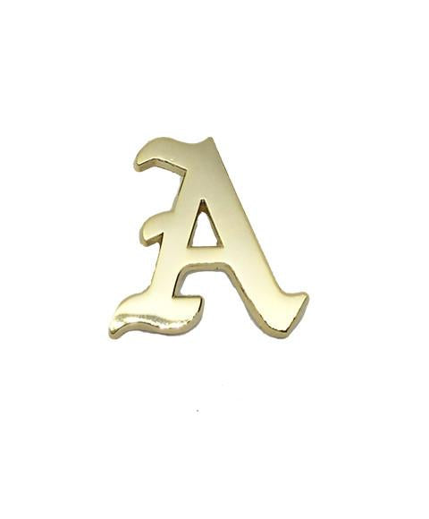 Gold Letter Pin