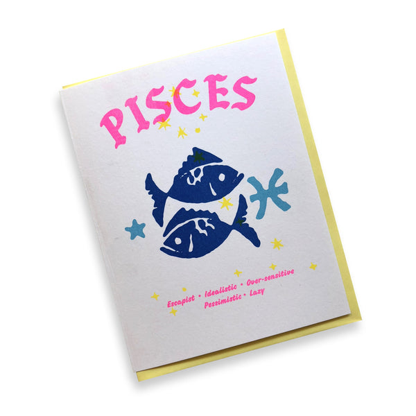Negative Zodiac Card - Pisces