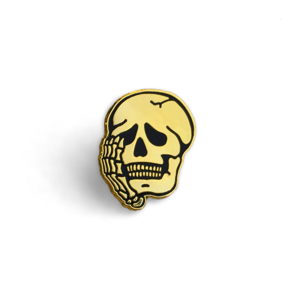 Worriers Anxiety Club Skull - Pin