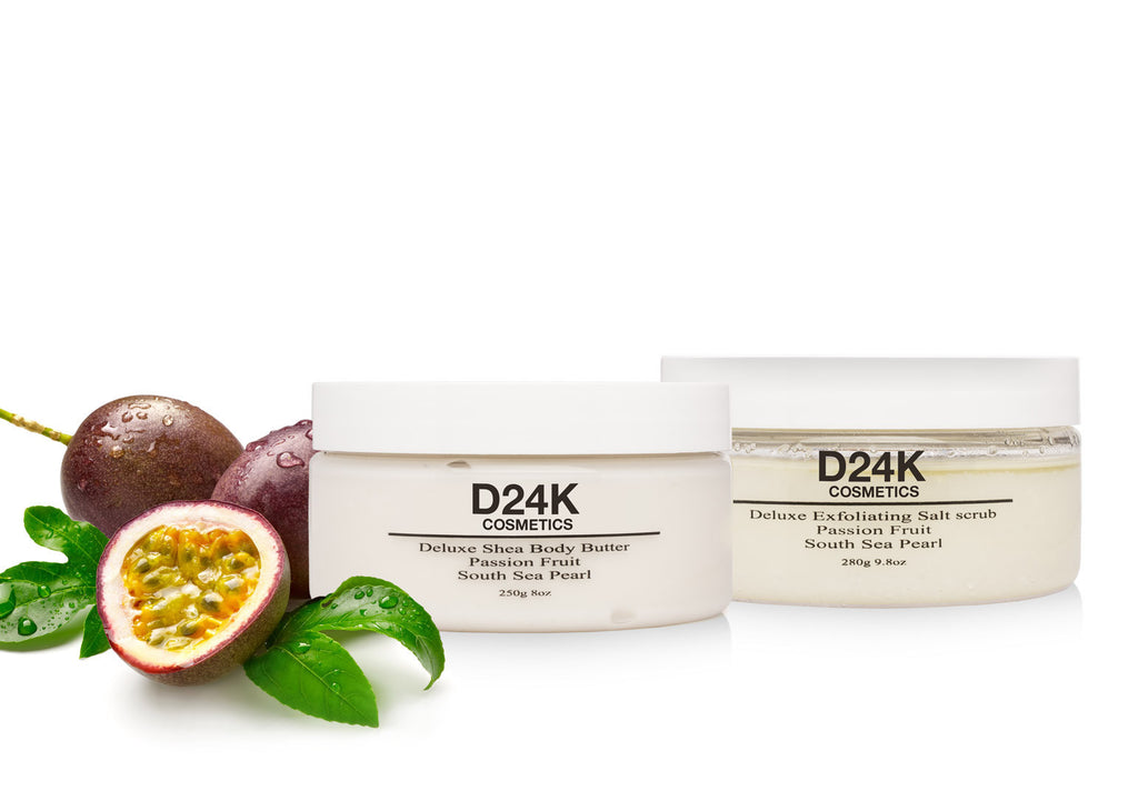 D24K Body Treatment Passion Fruit Set - Scrub / Body Butter