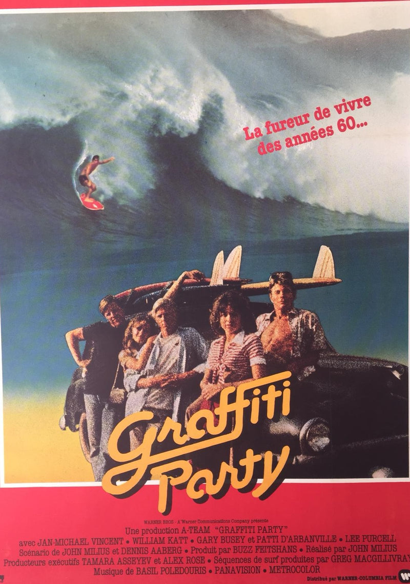Graffiti Party Original Movie Surf Poster
