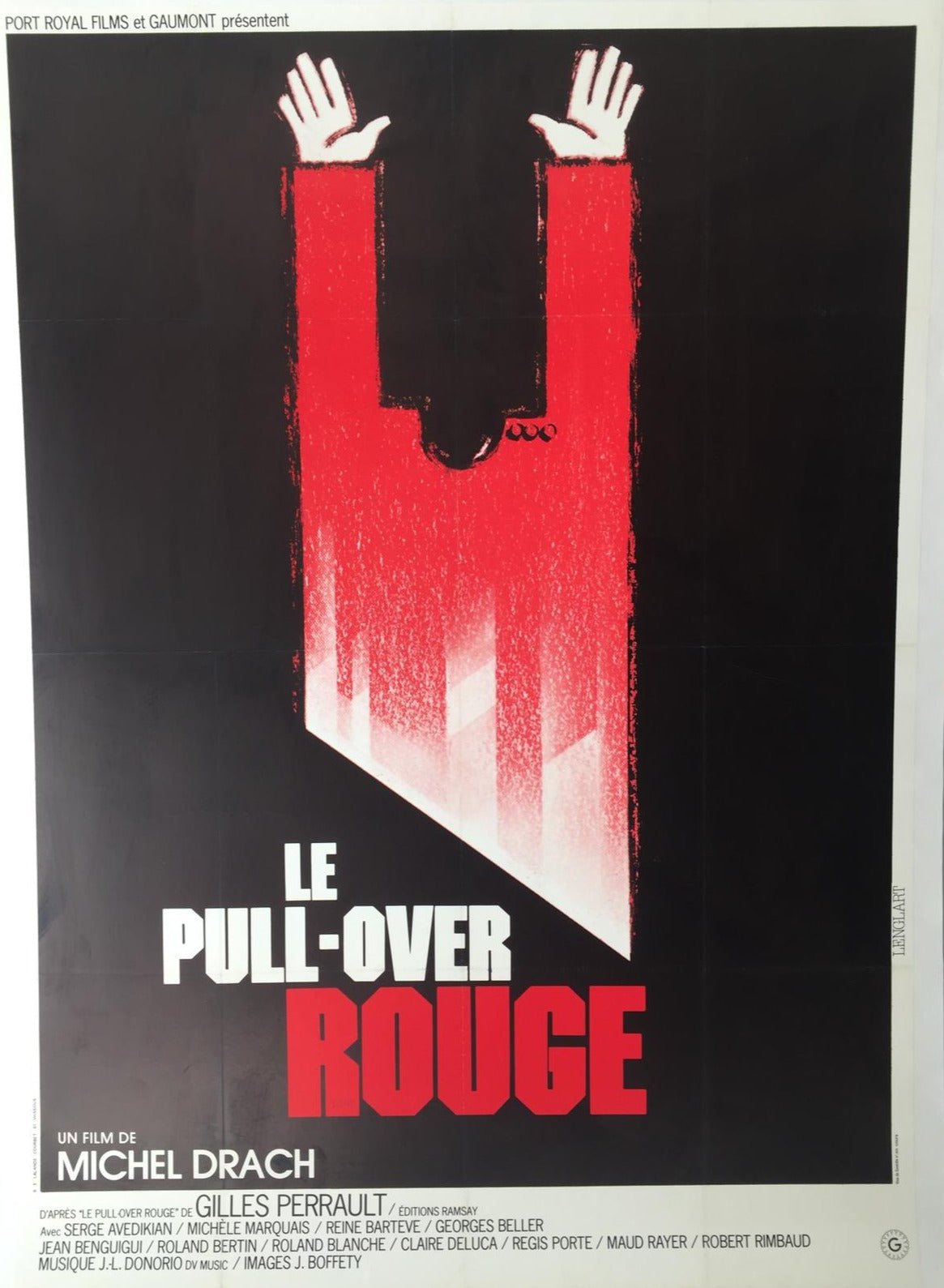 Le Pull-Over Rouge original movie poster