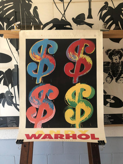 Dolalr Sign by Andy Warhol Exhibition Poster