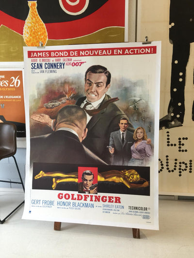Goldfinger Bond Original film poster