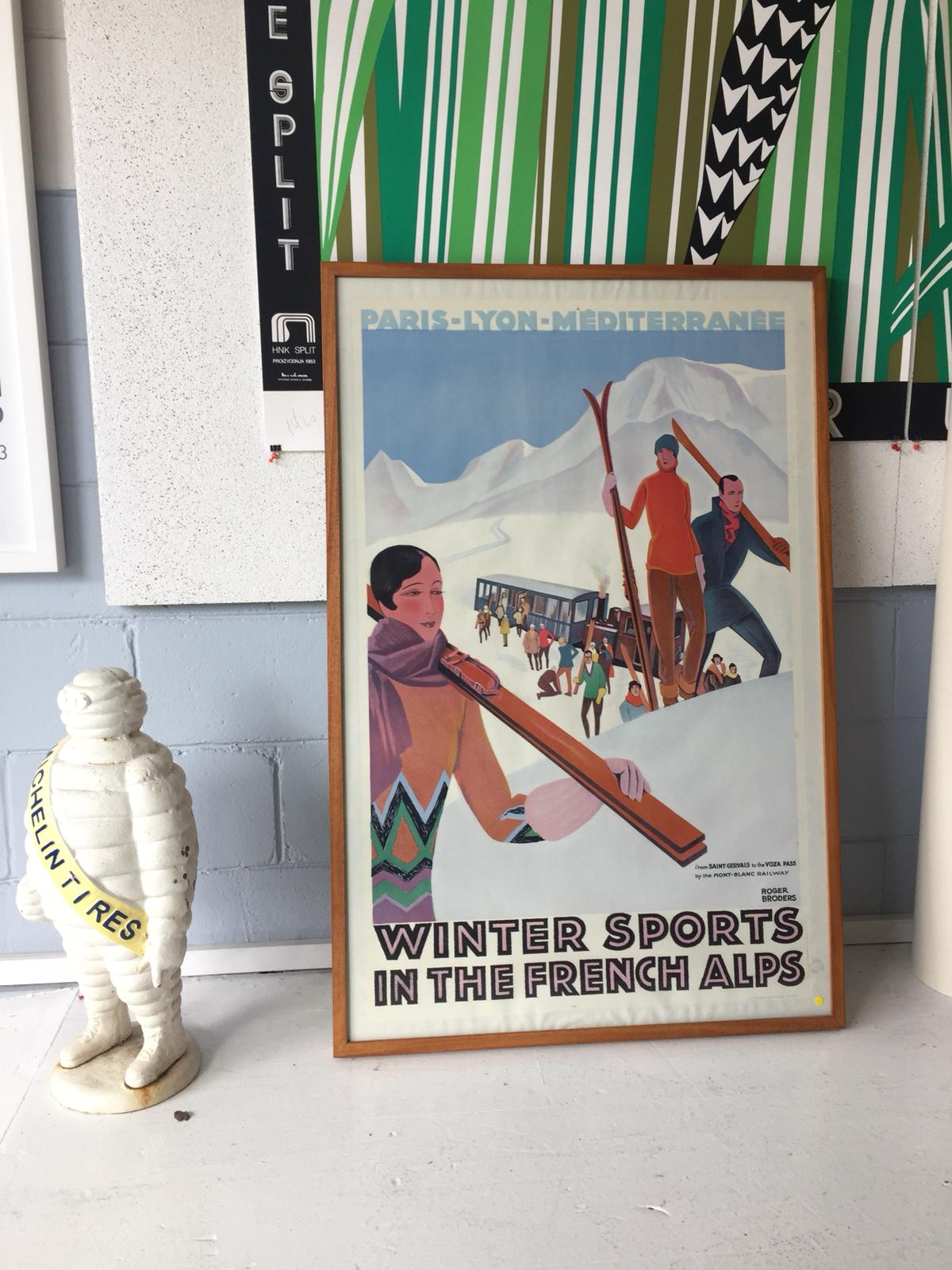 Winter sports in the French Alpes by Roger Broders