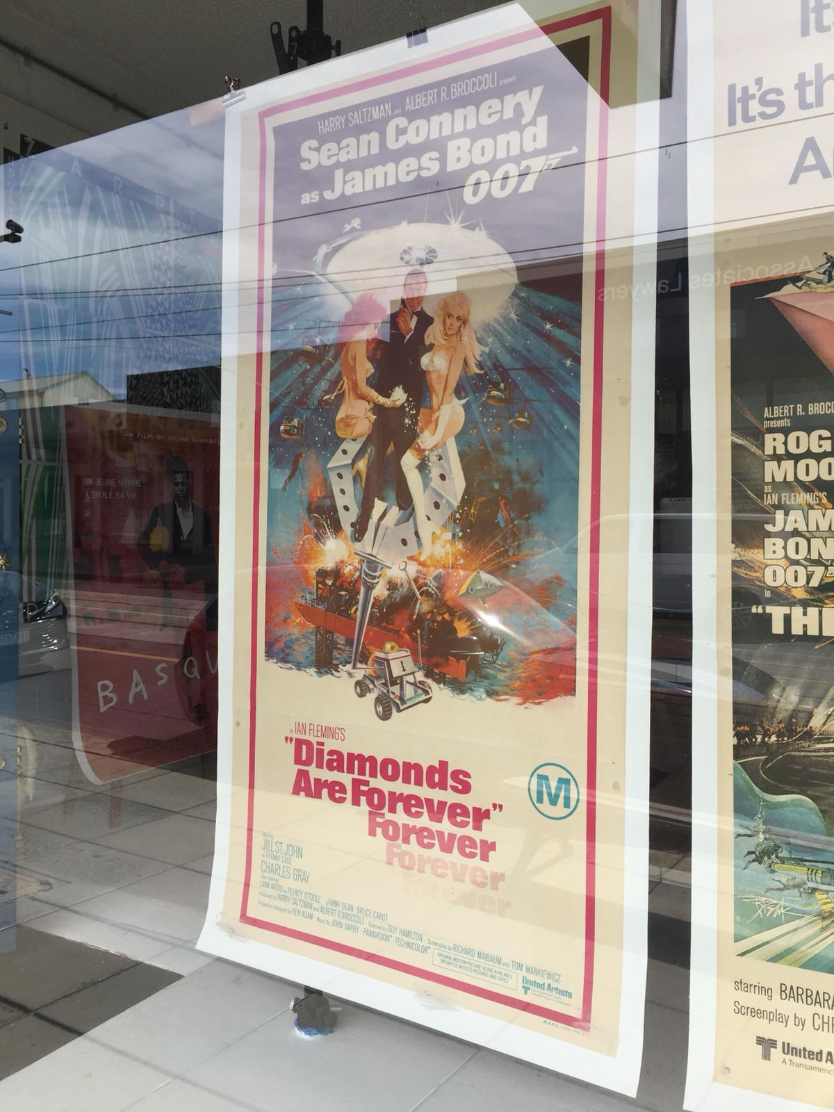 Diamonds Are Forever Original Bond Poster