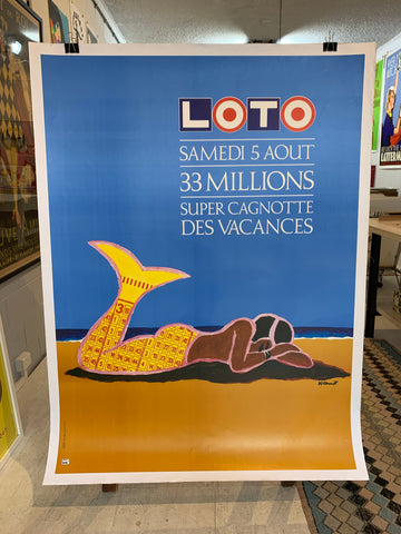 LOTO Mermaid By Bernard Villemot