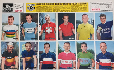 Tour De France Cyclist Head Shots