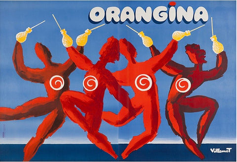 Orangina Dancers by Villemot