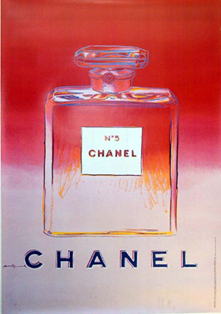 Chanel perfume 'Pink' by Andy Warhol