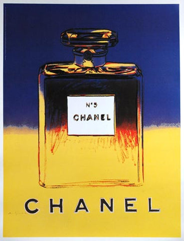 Chanel No5 Blue/Yellow by Andy Warhol
