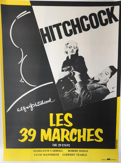 'The 39 Steps' Original Hitchcock Film Poster