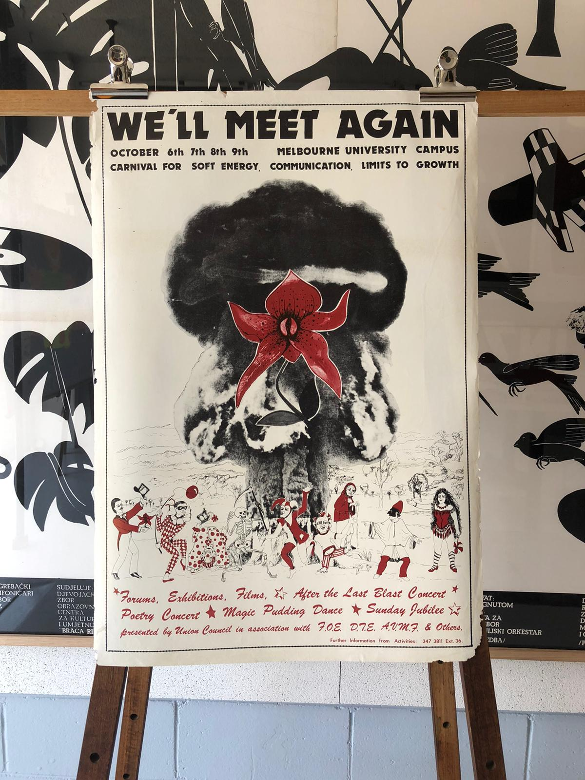 'We'll Meet Again' Melbourne University Original Lithograph