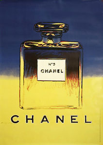 Chanel perfume 'Blue' by Andy Warhol