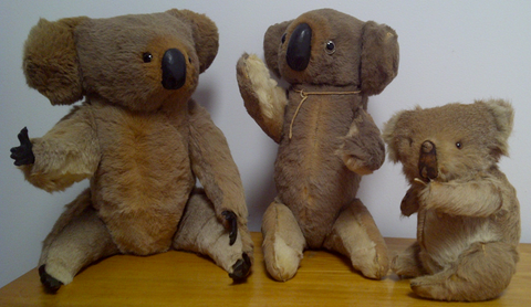 Koala collectables: Early Kangaroo hide Koala 'bears'