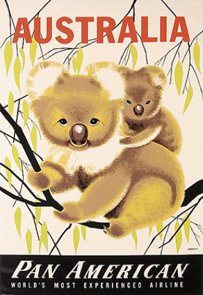 Koala collectables: Pan American poster