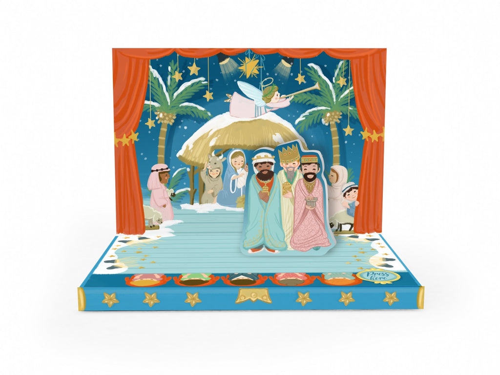 Music Box Card - Little Nativity