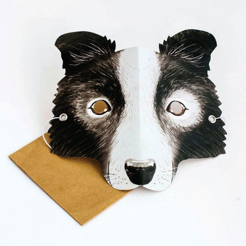 Mask Card Border Collie
