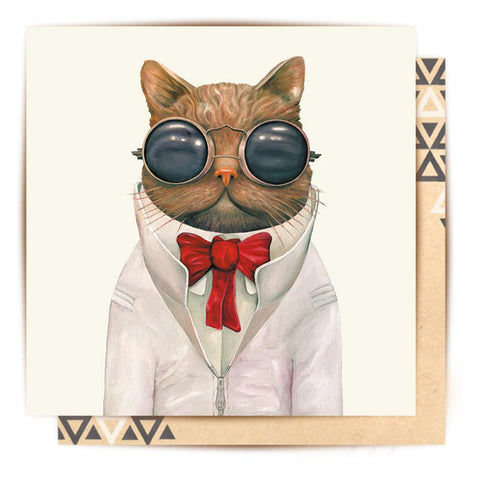 Greeting Card Astro Cat