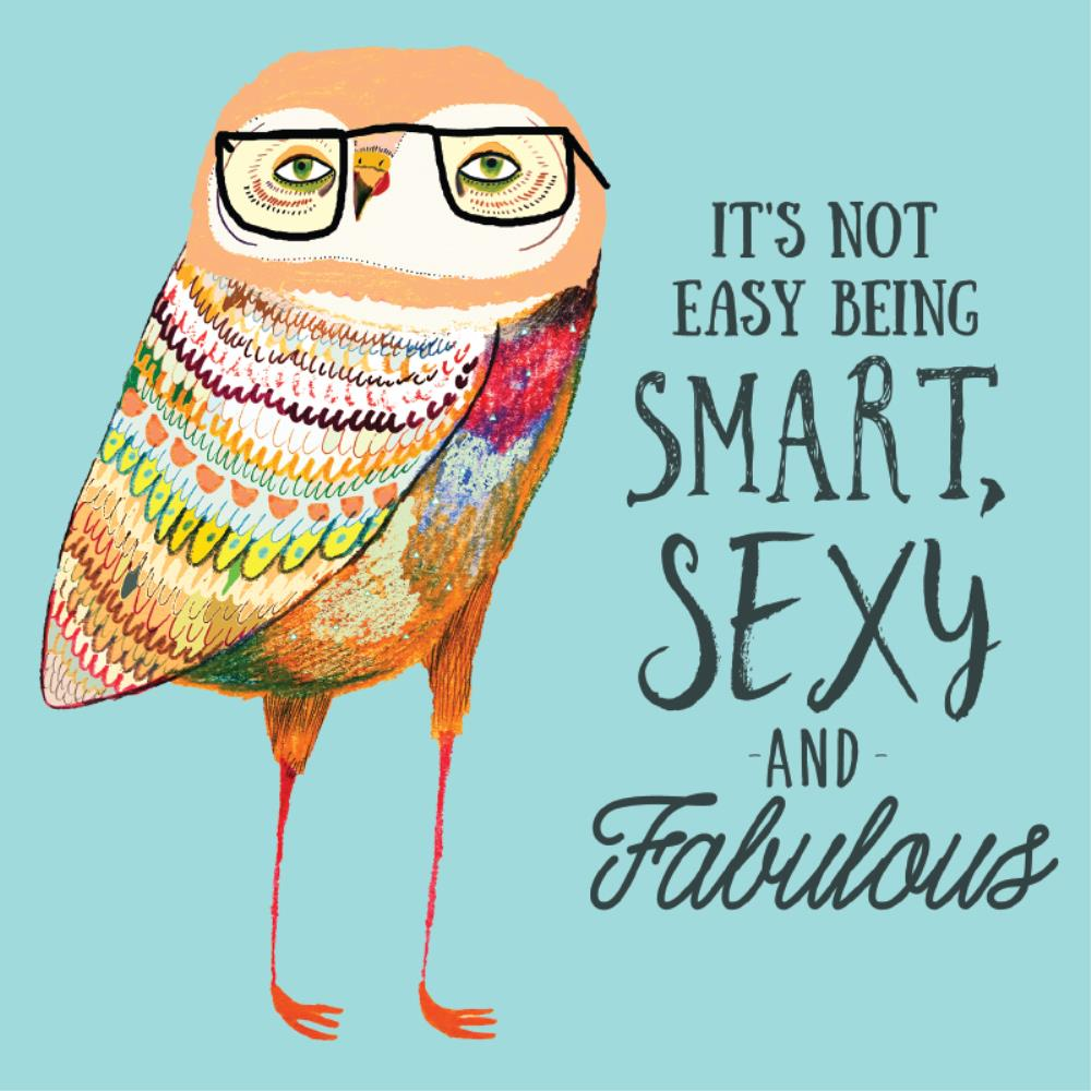 Greeting Card Smart Sexy Fabulous