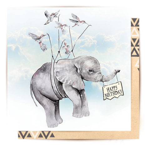 Greeting Card Birthday Elephant