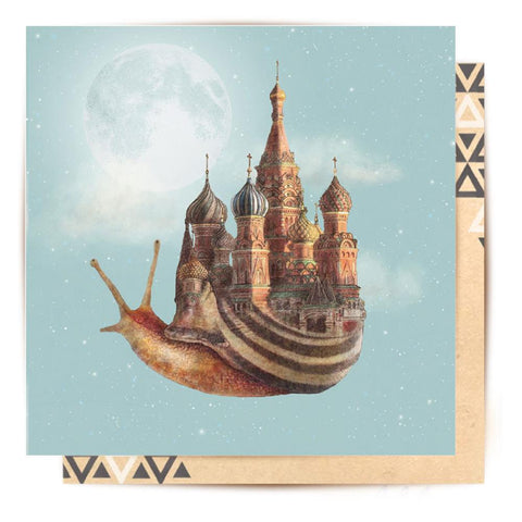Greeting Card The Snail's Daydream