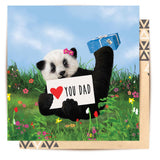 Greeting Card Love You Dad Panda