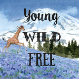 Greeting Card Young Wild Free