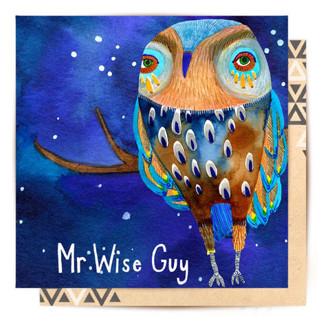Greeting Card Father Owl