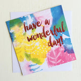 Foil Card Have A Wonderful Day