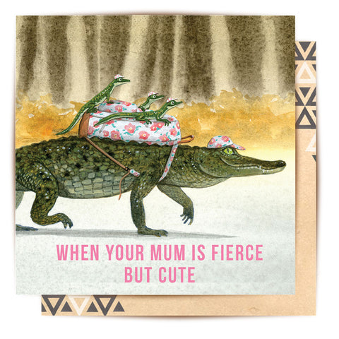 Greeting Card Croc Mum