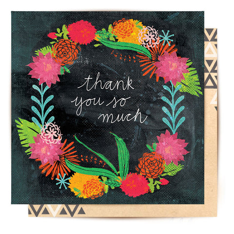 Greeting Card Botanical Thank