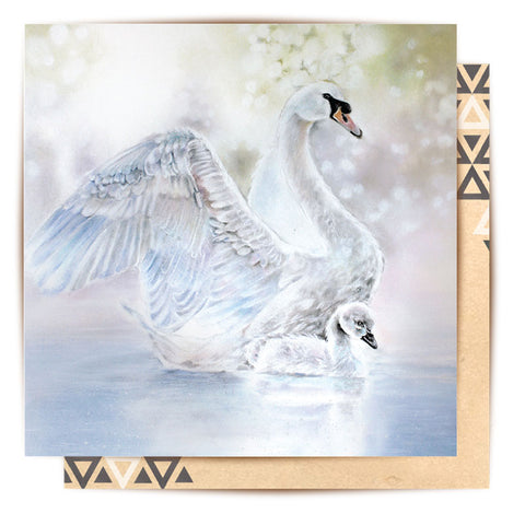 Greeting Card Swan Lake II