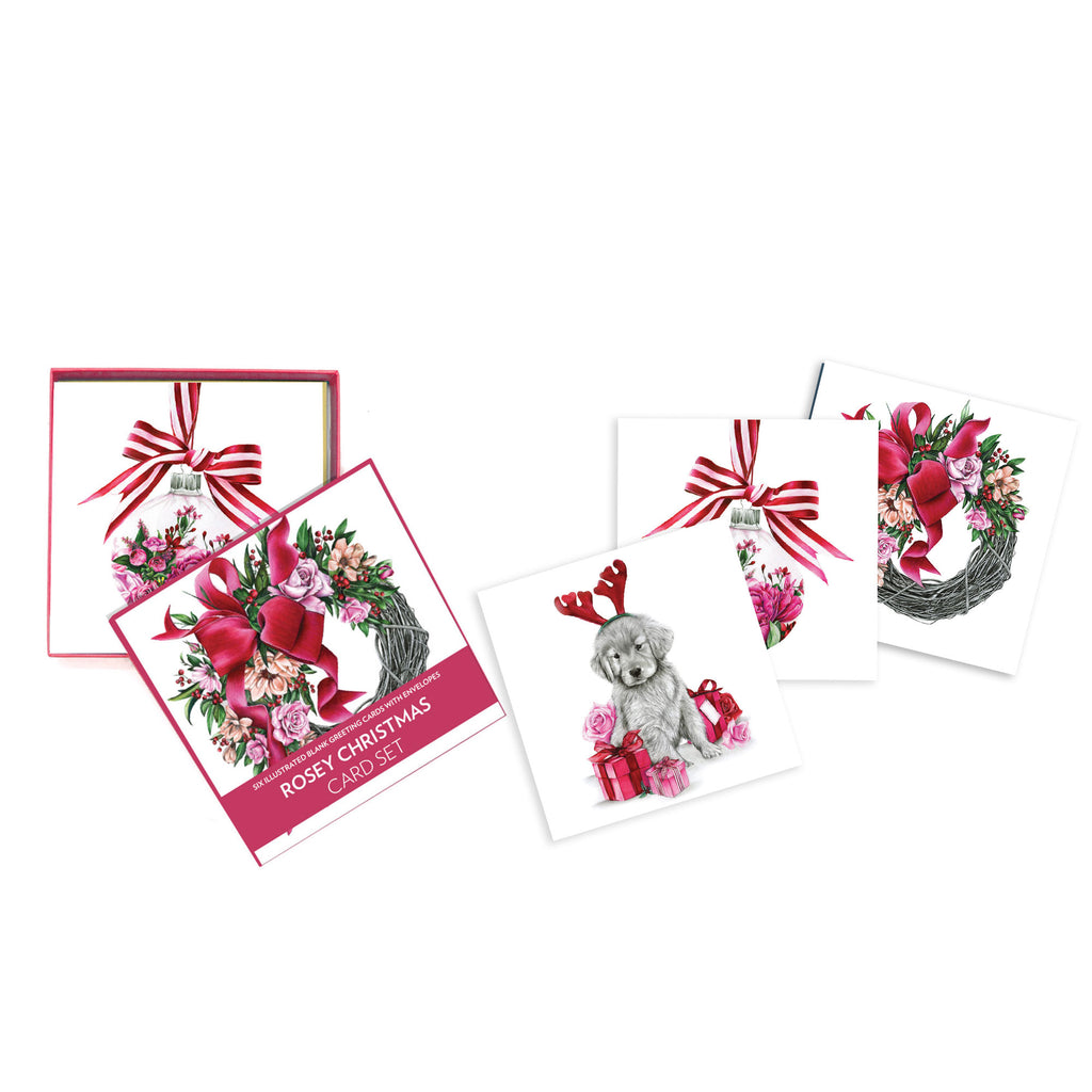 Deluxe Card Set Rosey Christmas