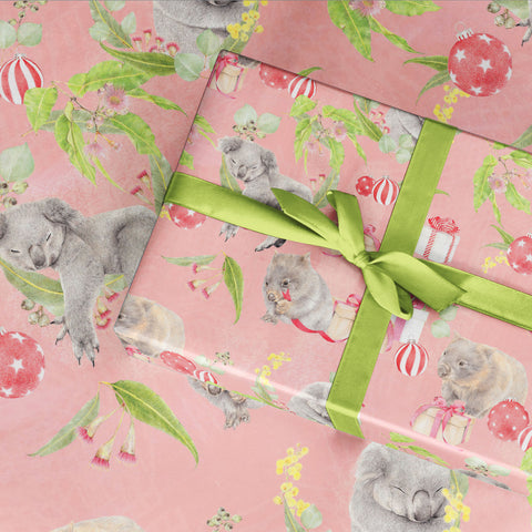 Wrapping Paper Festive Fuzzies