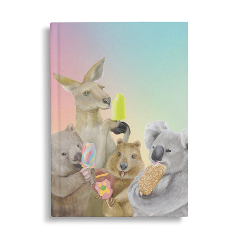Hard Cover Notebook Ice Cream Critters