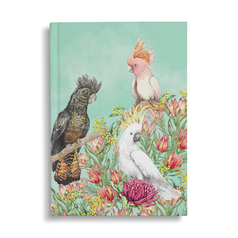 Hard Cover Notebook Cockatoos Of Australia