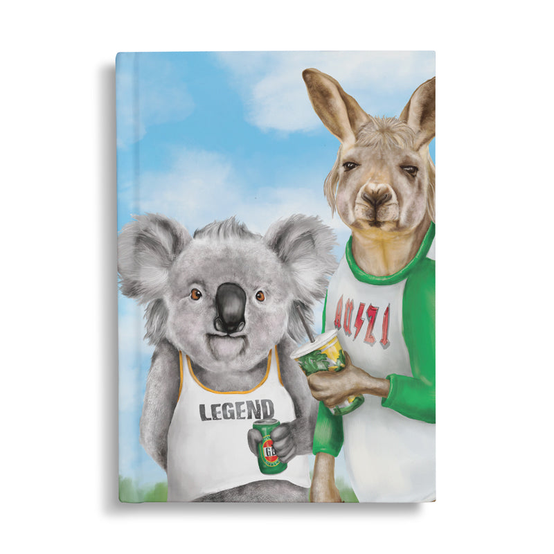 Hard Cover Notebook Bogan Budies