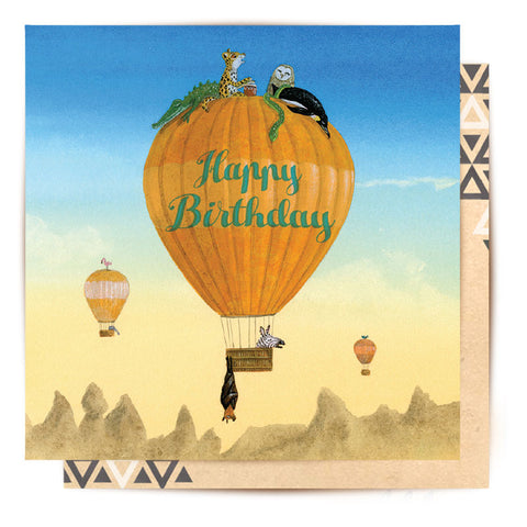 Mini Card Hot Air Balloon Birthday