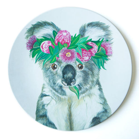 Single Plate Flower Crown Koala