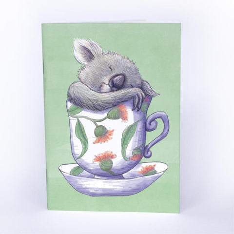 Pocket Book Tea Cup Koala