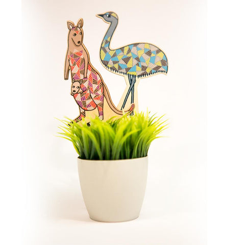Australian Animals Plant Deco