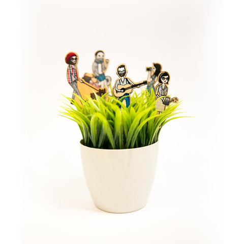 Mini Hipsters Plant Deco