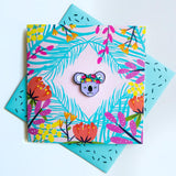 Pin Greeting Card Crowned Koala