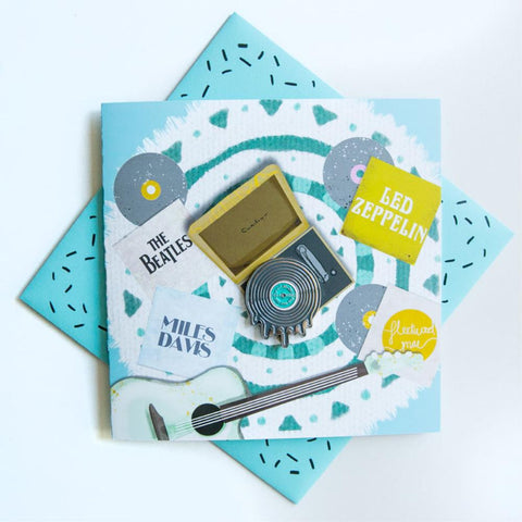 Pin Greeting Card Melting Record