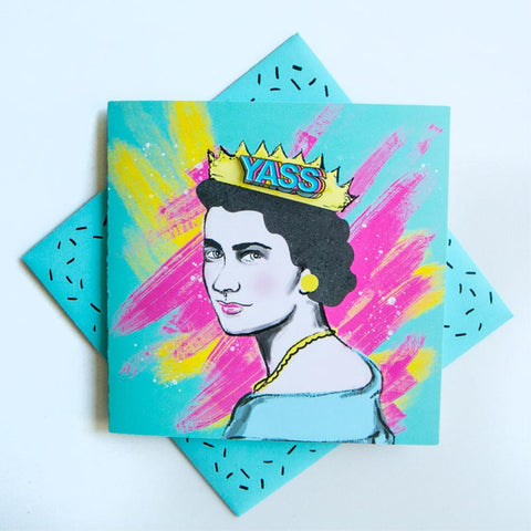 Pin Greeting Card Yass Queen